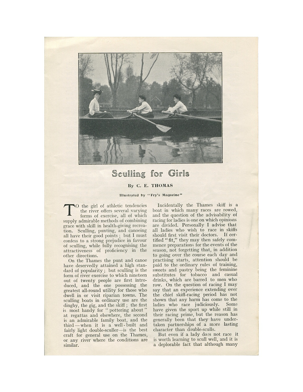 Sculling for Girls 1906-1