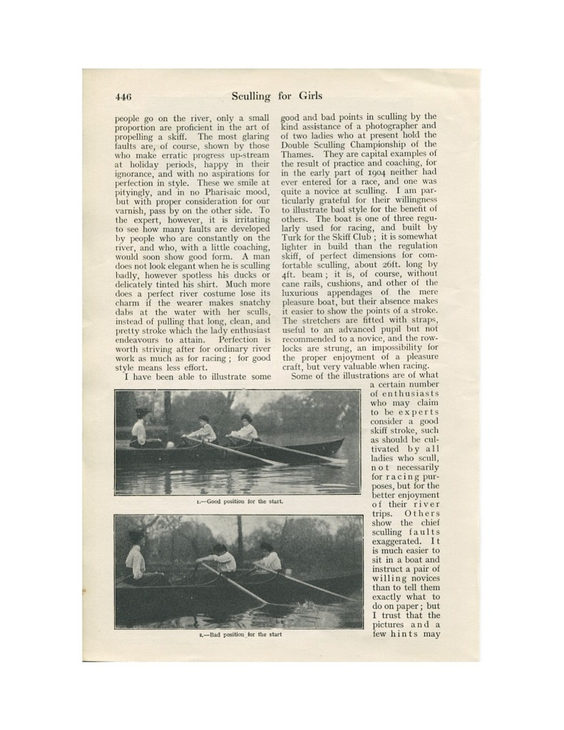 Sculling for Girls 1906-2