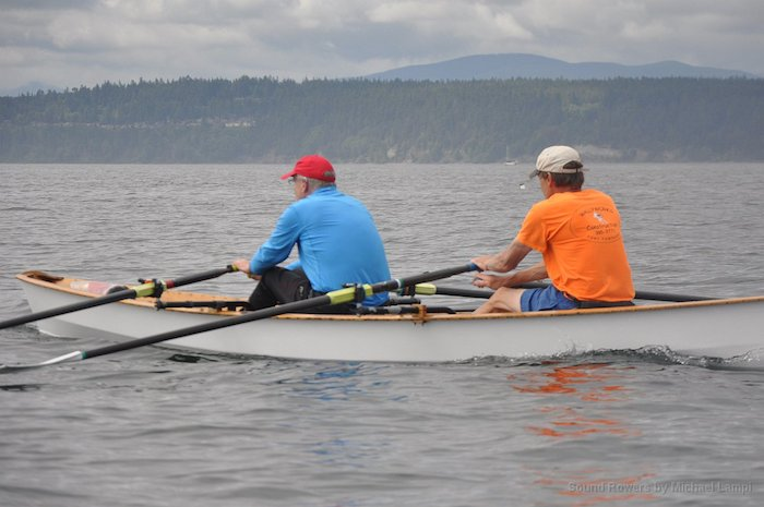 Mens' 2x Wherry second Beluga: Frank Ward (S) and Paul Carter (C)